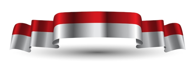 Indonesien-rote weiße band-flagge