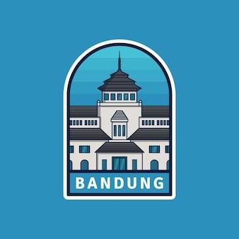 Indonesien stadt bandung abzeichen