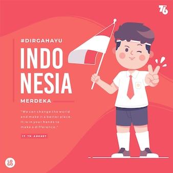Indonesien unabhängigkeitstag illustration hintergrund