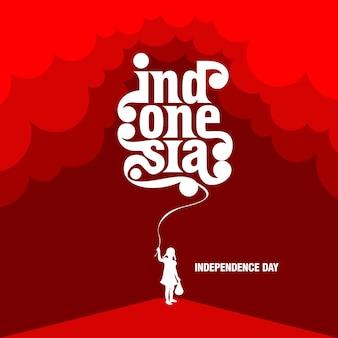 Indonesien unabhängigkeitstag vorlagendesign