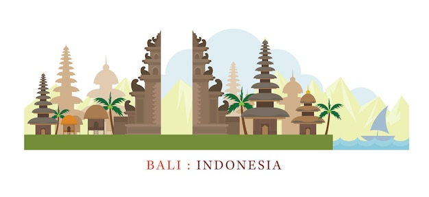 Indonesien und touristenattraktion
