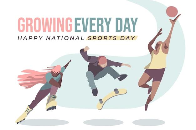 Indonesische nationalsporttag illustration