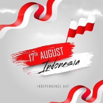Indonesische unabhängigkeitstagfahne