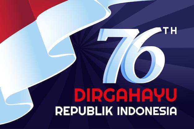 Indonesischer unabhängigkeitstag dirgahayu republik indonesien