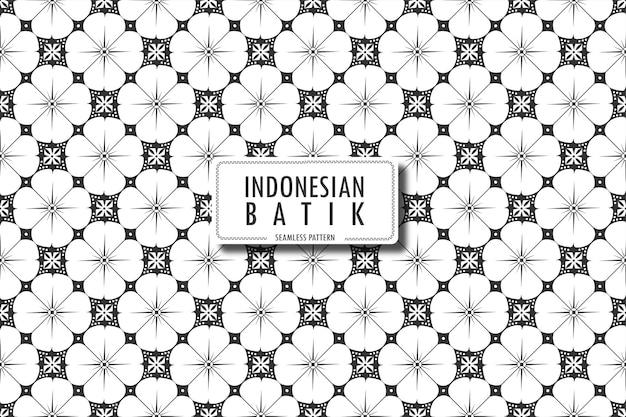 Indonesisches batikmotiv in klassischen farbdesigns javanisches batik nahtloses muster