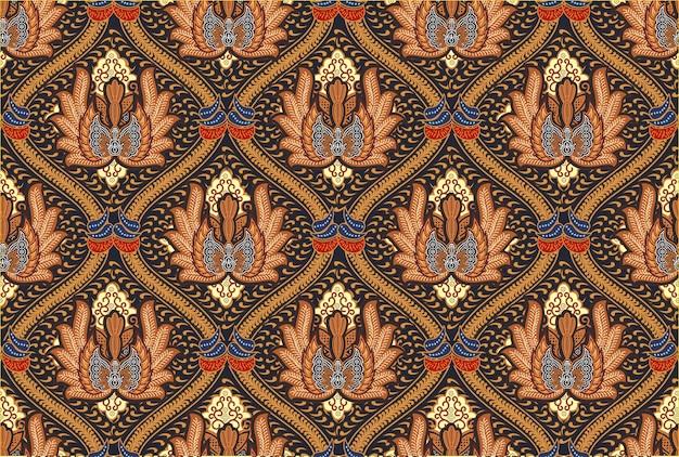 Indonesisches batikmotiv in modernen farbdesigns