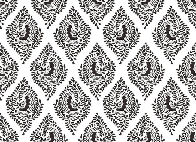 Indonesisches batikmotiv, spezielle designs, die gemustert sind