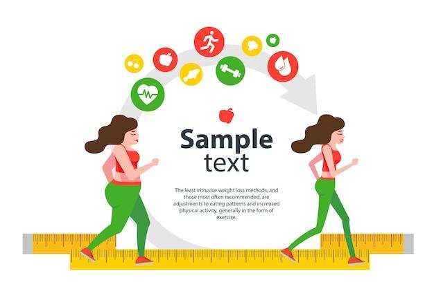 Indoor-fitnesskonzept und fitness-app isolieren