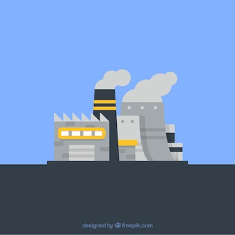 Industrial building cartoons