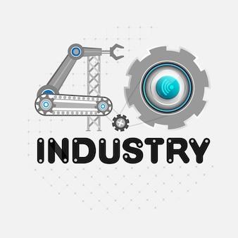 Industrie 4.0-konzept des industriegeschäfts