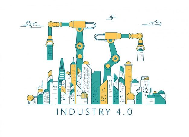 Industrie zukünftiges gebäude