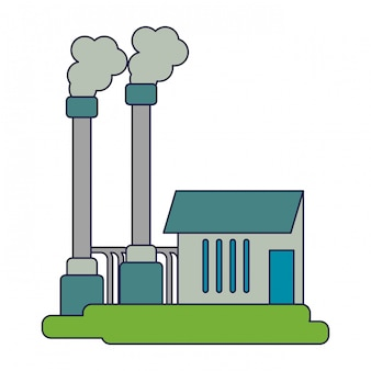 Industrieanlage mit verschmutzung