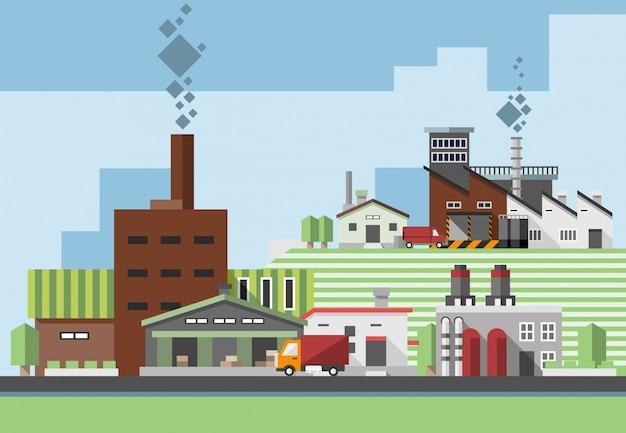 Industriegebäude flach