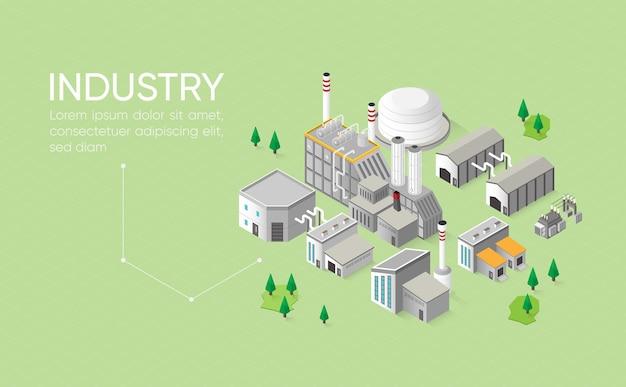 Industriegebäude isometrisch