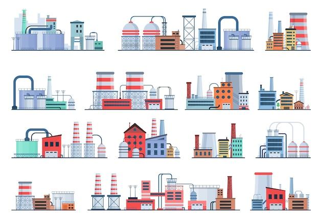 Industriegebäude-konzept-öko-art-fabrikstadtlandschaft