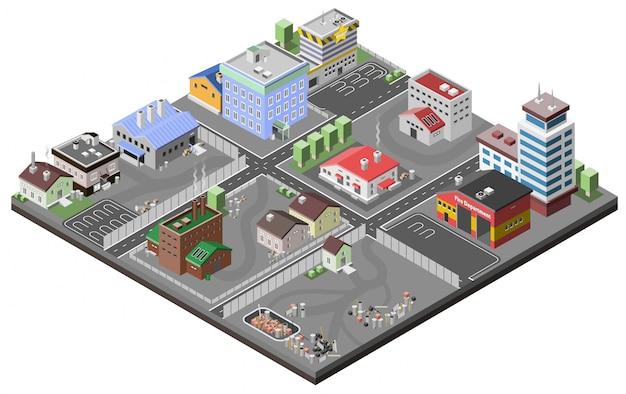 Industriegebiet-konzept