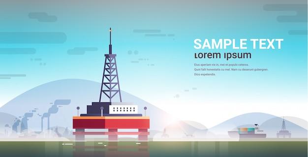 Industriekraftwerk für offshore-bohranlagen auf seeplattform