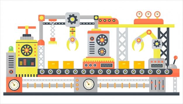 Industrielle abstrakte förderbandmaschine