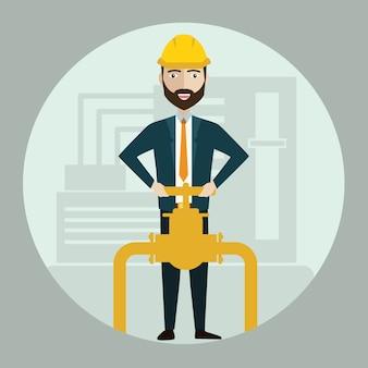 Industrielle arbeiter des ingenieurbaus