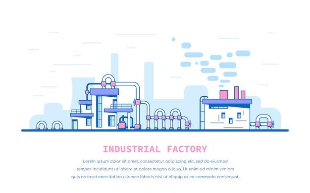 Industrielle fabrikillustration