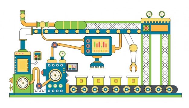 Industrielle förderbandproduktion