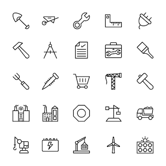 Industrielle linie icons