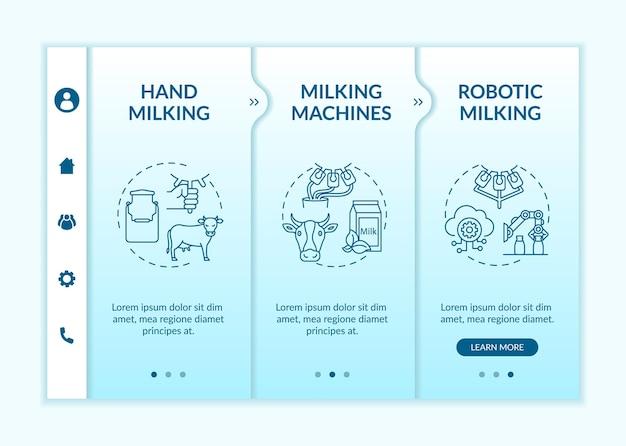 Industrielle melkvorlage