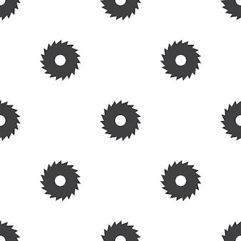 Industrielle säge, nahtloses vektormuster, editierbar kann für webseitenhintergründe, musterfüllungen verwendet werden