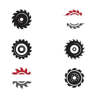 Industrielle säge vektor-illustration icon-design-vorlage