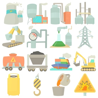 Industrielle symbolikonen eingestellt