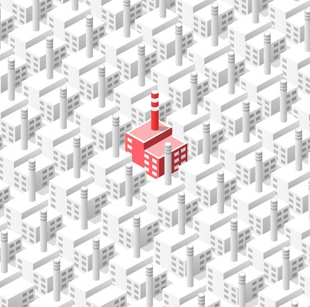 Industrieller hintergrund aus geometrischen