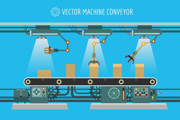 Industrielles fabrikförderband der maschinerie