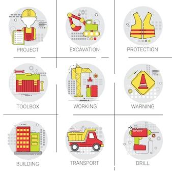 Industrielles icon-set