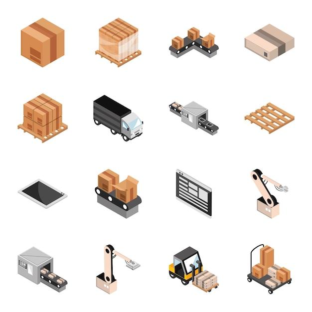 Industrielles isometrisches set