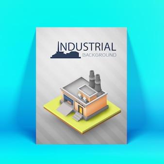 Industrielles layout oder plakat für werbung oder geschäftspräsentation farbig und 3d