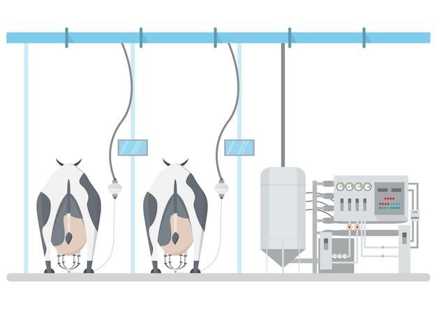Industriemilchprodukt und milchverarbeitung mit technologie von der fabrik