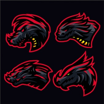 Inferno drachen logo set