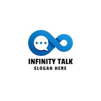 Infinity chat logo vorlage mit farbverlauf