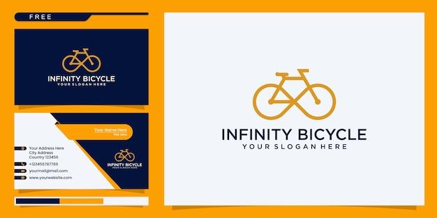 Infinity-fahrrad. logo und visitenkartenreferenz
