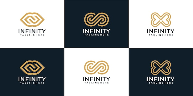 Infinity loop monogramm grenzenlose logokollektion
