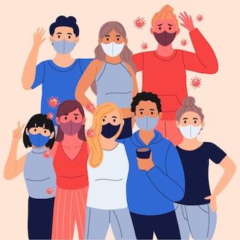 Infizierte unter gesunden