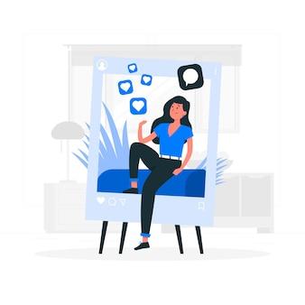 Influencer konzept illustration