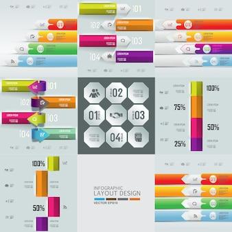 Info-grafik-design-hintergrund-set