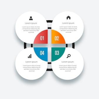 Info grafische elemente. bunte infografik-vorlage