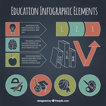 Infografie über verschiedene aspekte des educaciuon