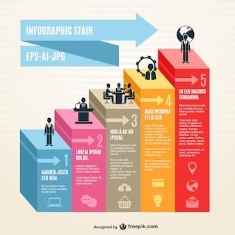 Infografik 3d treppen