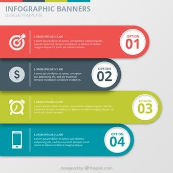 Infografik banners sammlung
