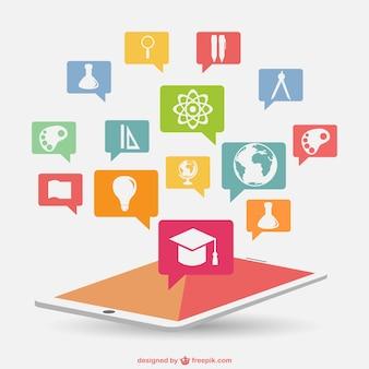 Infografik bildung neuer technologie