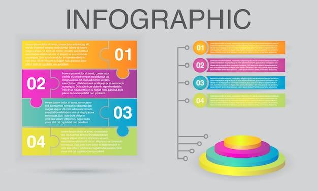 Infografik bunte design-vorlage