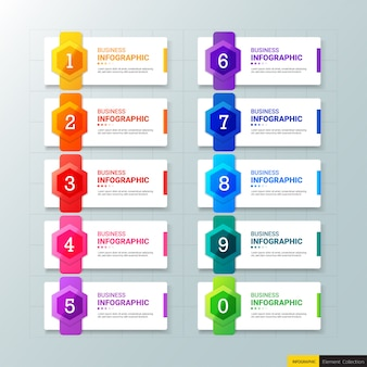 Infografik business banner vorlage design.